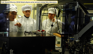 Prof. Gerard Mourou (2018 Nobel Prize Physics winner) visited Attoscience laboratory. 이미지
