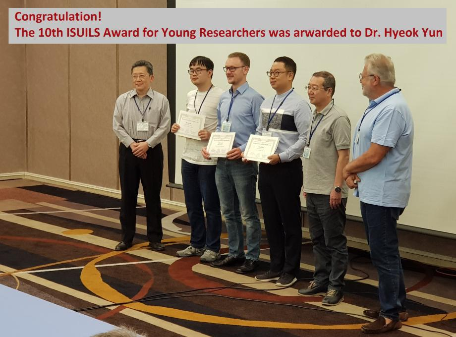 The 10th ISUILS Award for Young Researchers (Dr. Yun) 이미지